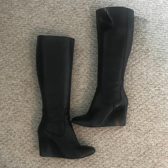 Leather Wedge Boots | Poshmark